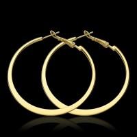 18k Gold Hoop Earrings Large Hooped 5.3cm