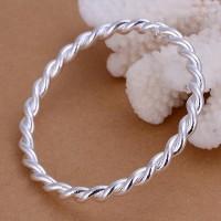 925 Silver Plated Twist Bangle