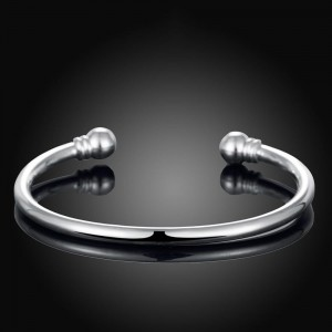 925 Silver Plated Torque Bangle